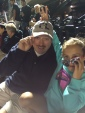 Thomas Zerbarini and Isabella at Mets game